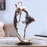 Elegant Home Decor Dancing Girl Figurines Table Craft European Miniatures Decorative Doll Wedding Gift Status - one46.com.au