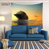 Smiry Travel round the world Pattern Mandala Tapestry Ocean ship Wall Hanging Gobelin Bedding Polyester Home Decor Free Shipping - one46.com.au