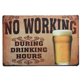 Wine / Whiskey / Beer / Cocktail Vintage Tin Sign Metal Sign Bar / Pub / Garage Metal Plate Metal Wall Decoration - one46.com.au