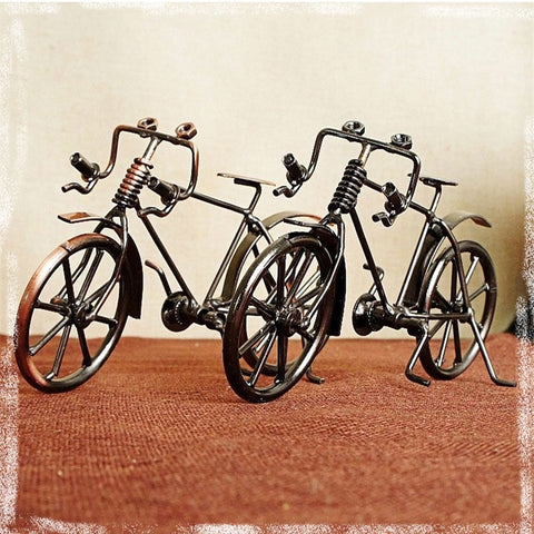 ZAKKA Style Bicycle Metal Figurines Household Decor Desktop DIY Bicycle CraftDecoration Figurines For Friend Birthday Best Gift
