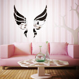 Acrylic Mirror 3D Wall Stickers Angel Wings Wall Sticker Decal DIY Art Home Decoration Stickers for Bedroom Living Room - one46.com.au