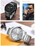 Top Brand Luxury Sports Quartz Watches Men's Waterproof Full Steel Wristwatch Fashion Casual Clock Male relogio Army Military - one46.com.au