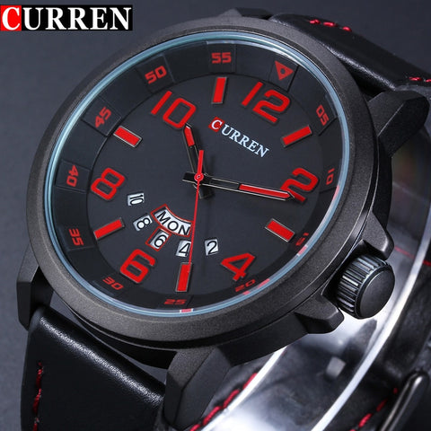 Luxury Brand Military Quartz Watch Men Navy Army Leather Strap Casual Business Wristwatch men Sports Relogio Masculino - one46.com.au