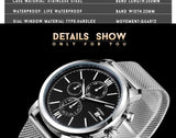 SINOBI Men's Watch Waterproof Sport Watch Men Watch Stainless Steel Wrist watches Clock saat relogio masculino erkek kol saati - one46.com.au