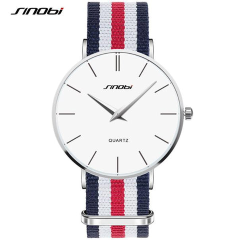 SINOBI Fashion Wrist Watches Top Brand Nylon Strap Men's Watch Men Watch Waterproof Watches Clock relogio masculino reloj hombre - one46.com.au