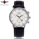 SHANGMEIMK Brand Watches Men Fashion Calendar Clock  Luxury Leather Strap Quartz Male Wrist Watches Gift Relogio Masculino - one46.com.au
