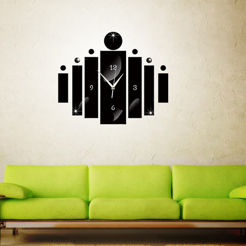 Creative Acrylic Digital Wall Clock Mirror Wall Sticker Clocks Living Room Clock Modern Needle Clock Home Decoration E5M1 - one46.com.au