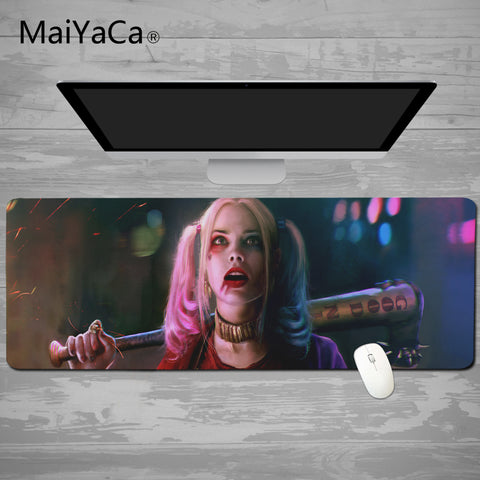 MaiYaCa Mouse pad 900*400mm Speed Keyboard Mat mousepad Gaming mouse pad Desk Mat for Harley Quinn Game player Desktop PC