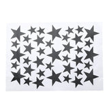39Pcs/lot DIY Star Wall Stickers Five-pointed Star Removable PVC Home Wall Decals For Living Room Ceiling Decoration - one46.com.au
