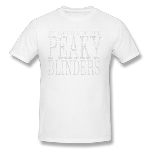 Tshirt Big Size Peaky Blinders By Order Of Peaky Blinder Plain T Shirt Adult O Neck Short Sleeve Tees Vintage Plus Size T Shirt - one46.com.au