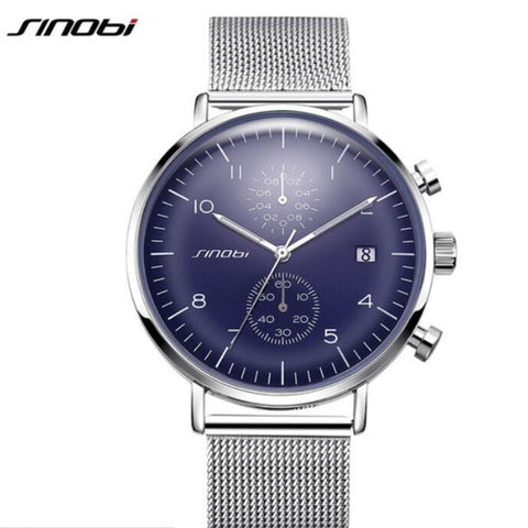 SINOBI Luxury Brand Watch Men Watch Luxury JAPAN Movement Watches Fashion Luminous Men's Watch Clock saat relogio masculino - one46.com.au