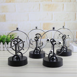Desktop Decor Electromagnetic Pendulum Figurines Perpetual Instrument Model Figurine Home Decoration Newton Cradle Crafts - one46.com.au
