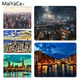 MaiYaCa High Quality Future City mouse pad gamer play mats Size for 180x220x2mm and 250x290x2mm Small Mousepad - one46.com.au