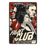 [ Mike86 ] Pulp fiction Fight club Reservoid Dogs Retro Movie Metal Poster Pub Cinema Bar Mural Painting Decor 20X30 CM AA-1039 - one46.com.au