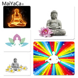 MaiYaCa In Stocked Lord Buddha  Meditation Yoga Unique Desktop Pad Game Mousepad Size for 18x22cm 25x29cm Small Mousepad - one46.com.au