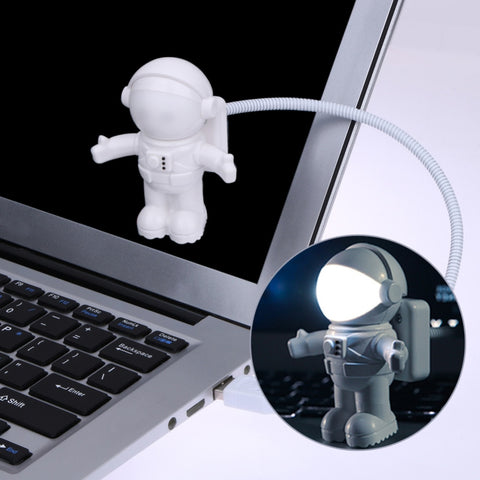 Funny Astronaut USB Gadget Spaceman USB LED Light Adjustable Night Light Gadgets for Computer PC Lamp - one46.com.au