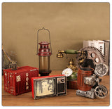 Home Decor Classic Camera Gear Refrigerator TV Model Craft Retro Home Furnishings Decoration Vintage Desktop Figurines - one46.com.au