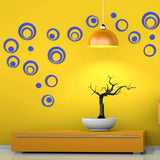 DIY Circles Wall Mirror Stickers Vinyl Art Mural Wall Sticker Room Decoration Sofa TV Background  Home Wall Decor Dropshipping - one46.com.au