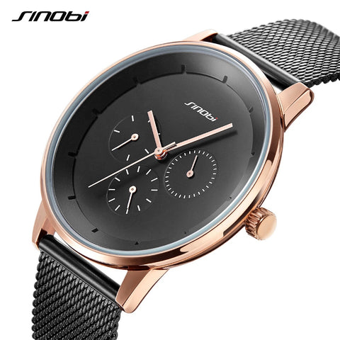 SINOBI Men's Watch Top Brand Luxury Wrist Watch Men Watch Waterproof Auto Date Week Watches Clock relogio masculino reloj hombre - one46.com.au