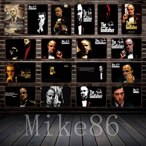 [ Mike86 ] GOD FATHER Tin sign Movie Art  wall Posters decor Pub Cafe Bar Party Craft Retro Iron Painting A-254 - one46.com.au