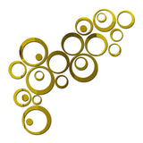 24 Pcs Circles Wall Stickers Mirror Style Removable Decal Vinyl Art Mural Wall Sticker Home Decoration - one46.com.au