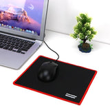 Hot 25*21CM Gaming Mouse Pad Black Red Lock Edge Rubber Speed Mouse Mat for PC Laptop Computer Black Games Mousepad Micepad - one46.com.au
