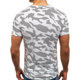 Camo Military Army Summer Muscle Tee Men's T Shirt Curved Hem Short Sleeve HipHop 3XL Casual Male Top Irregular Pattern - one46.com.au