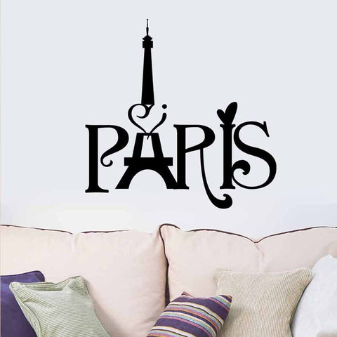 Wedding Decorations Stylish Paris Tower PVC Removable Room Decal Art Wall Sticker Home Decor  Papel De Parede - one46.com.au