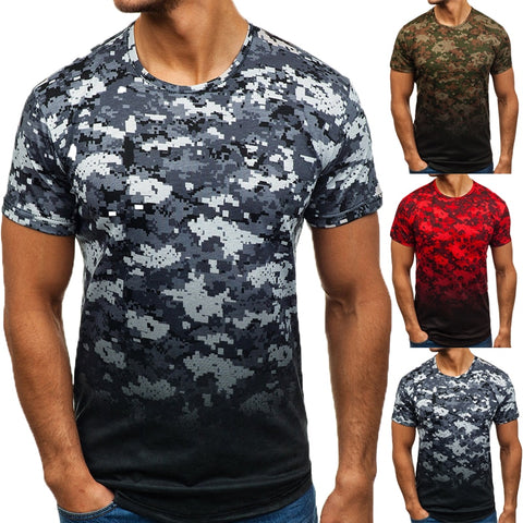 Casual Summer Short Sleeve Men's T Shirt Muscle Tee Cool Irregular Pattern Curved Hem HipHop 3XL Male Top Hombre Joggers 2019 - one46.com.au