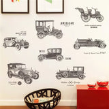 vintage car wall stickers for kids rooms children nursery boy room wall decals poster home decor decal mural - one46.com.au