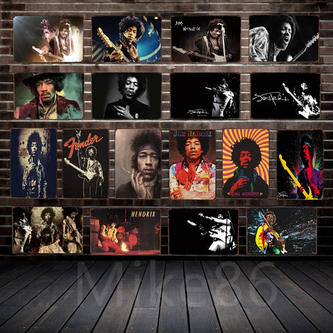 [ Mike86 ] Hendrix Tin sign Art  Wall decoration Cafe Bar Pub Party Vintage Metal Painting FG-137 - one46.com.au