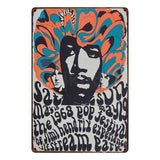 [ Mike86 ] Hendrix Tin sign Art  Wall decoration Cafe Bar Pub Party Vintage Metal Painting FG-137