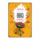 [ Mike86 ] BBQ ZONE Grill DADS BARBECUE TIME Metal Signs Antique Pub Room Hotel Party Decor Retro Wall Painting Plaque  FG-223 - one46.com.au