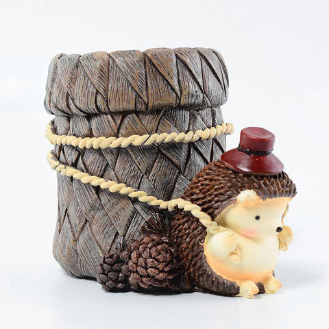 Pen Pencil Holder Cup Cute Hedgehog Desk Organizer Container Stationery Storage for Home Office E2S