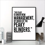 TV Series Quote Poster Peaky Blinders Print Wall Art Canvas Painting Arthur Shelby Gift - one46.com.au