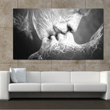 Unframed Abstract oil painting Love Kiss Wall Art Canvas Prints Pictures For Living Room Modern Pictures Home Decoration - one46.com.au