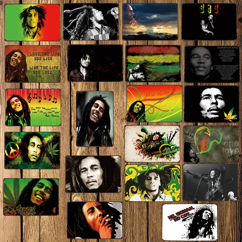 [ Mike86 ] Bob Marley Music Metal Tin Sign Room Decor Vintage Wall Craft For Pub Home 20*30 CM FG-218 - one46.com.au