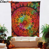 Indian Mandala Tapestry Hippie Home Decorative Wall Hanging Tapestries Boho Beach Towel Yoga Mat Bedspread Table Cloth 200x148cm - one46.com.au