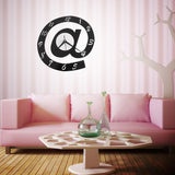 Letter Shape 3D Digital Wall Clock Big Silent Acrylic Pointer Clock Ultra Mute Movement Home Decor - one46.com.au