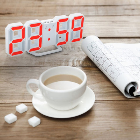 Modern Digital LED Table Clock Watches 24 Or 12 Hour Display Alarm Snooze Alarm Wall Clock For Home Decoration Room Decal Gift - one46.com.au