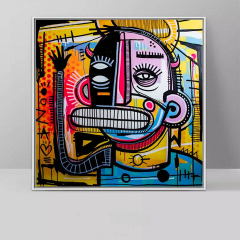 Graffiti Street Art Joachim Abstract Colorful Painting Canvas Print Wall Art Picture Home Decorative Living Room No Frame