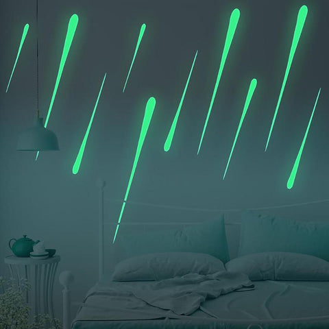 Meteor Shower Glow In The Dark Glow Stickers Luminous Fluorescent Wall Stickers For Kids Baby Room Bedroom Ceiling Home Decor