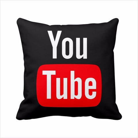 Modern Decorative Pillows Cover Youtube Throw Pillows Case Red Square Cushion Cover Home Decor Sofa Velvet Movie Cushion Cover - one46.com.au