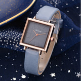 Top Brand Women Bracelet Square Watch Contracted Leather Crystal Wristwatches Women Dress Ladies Quartz Clock Dropshiping - one46.com.au