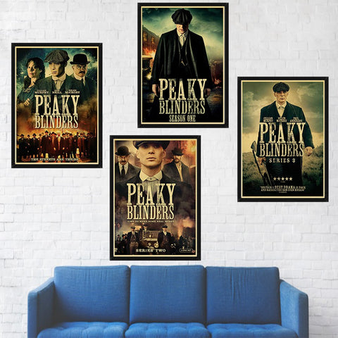 TV series peaky blinders poster wall decor kraft paper print retro poster wall art romm decor - one46.com.au