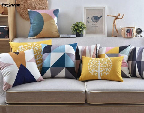 Scandinavian Pillow Case Decorative Pillows Blue Cushions Cover Home Decor Velvet Throw Pillows Yellow Pillowcase for sofa - one46.com.au