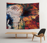 Meijuner Indian Mandala Tapestry Wall Hanging Beach Blanket Hippie Elephant Tapestry Home Decorative Bohemian Decorative MJ144 - one46.com.au