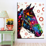 Large size Print Oil Painting Wall painting Horse Pop art Decorative Wall Art Picture For Living Room paintng No Frame - one46.com.au