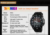 SKMEI Men's Solar Quartz Digital Watch Men Sports Watches Relojes Relogio Masculino LED Display Military Waterproof Wristwatches - one46.com.au