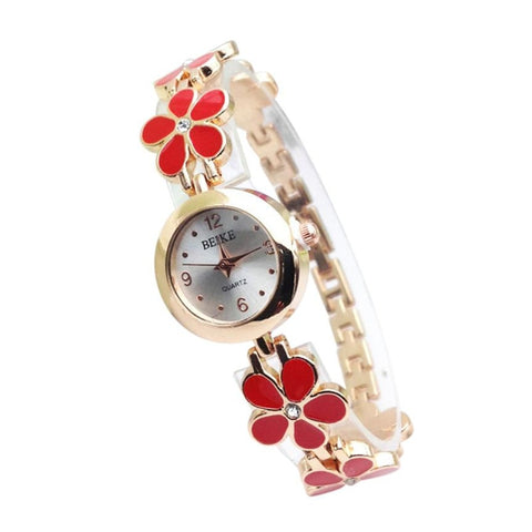 Women Watch Luxury Brand Stainless Steel relogio feminino Rhinestone Flower Alloy Band Ladies Female Bracelet Watches montre - one46.com.au